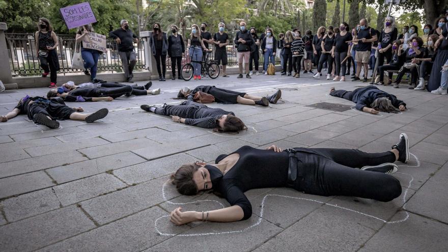 Manifestación en Palma contra la violencia machista: «No queremos más minutos de silencio»