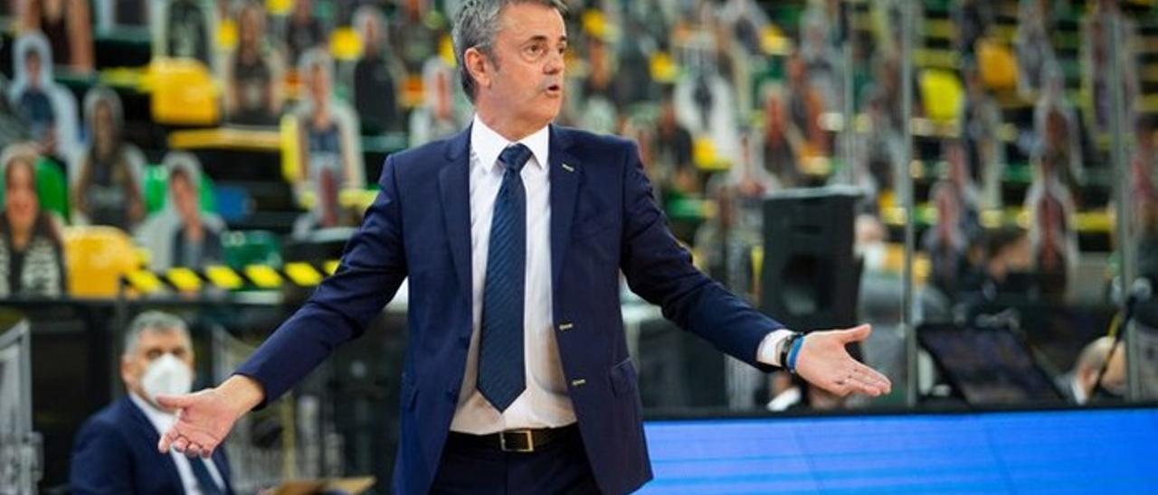 Fisac, en el partido ante el Bilbao Basket