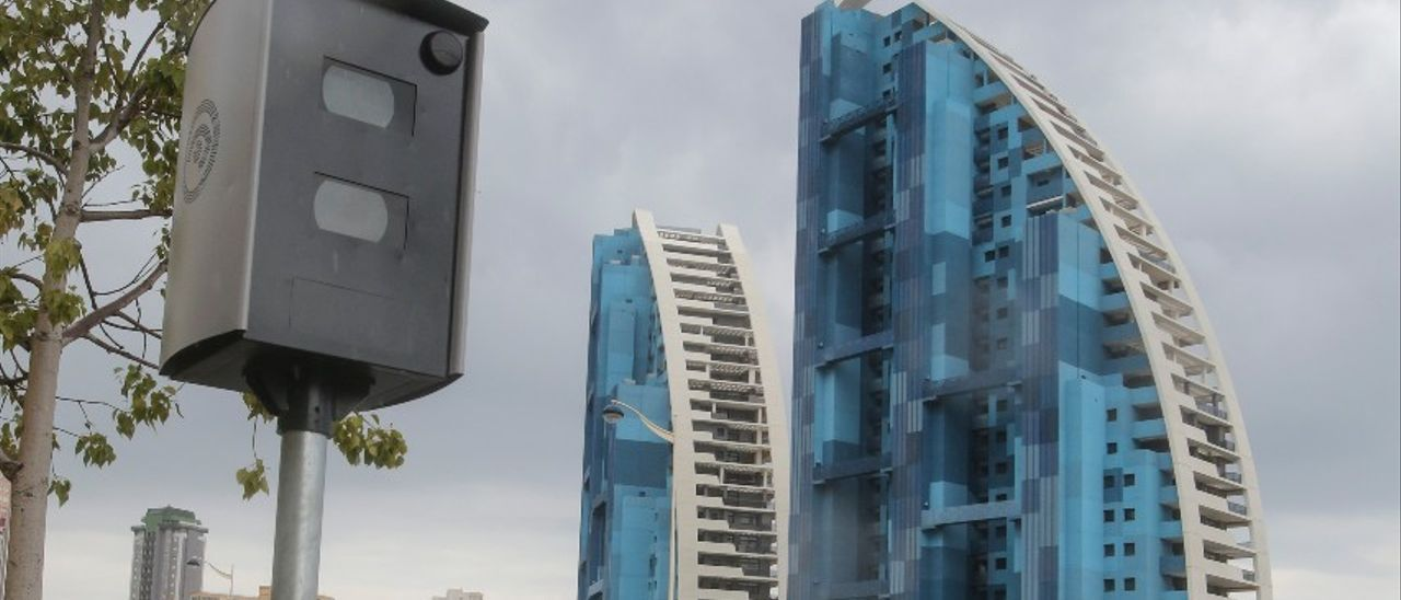 Radar instalado en la avenida Vicente Pérez Devesa.
