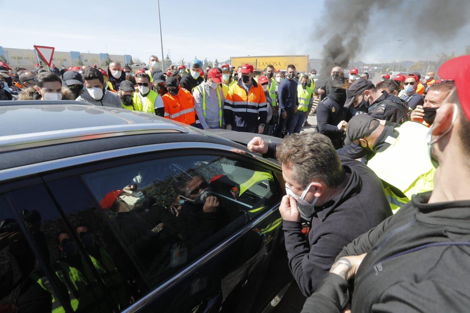 La huelga de los trabajadores de Pilkington en el Port de Sagunt