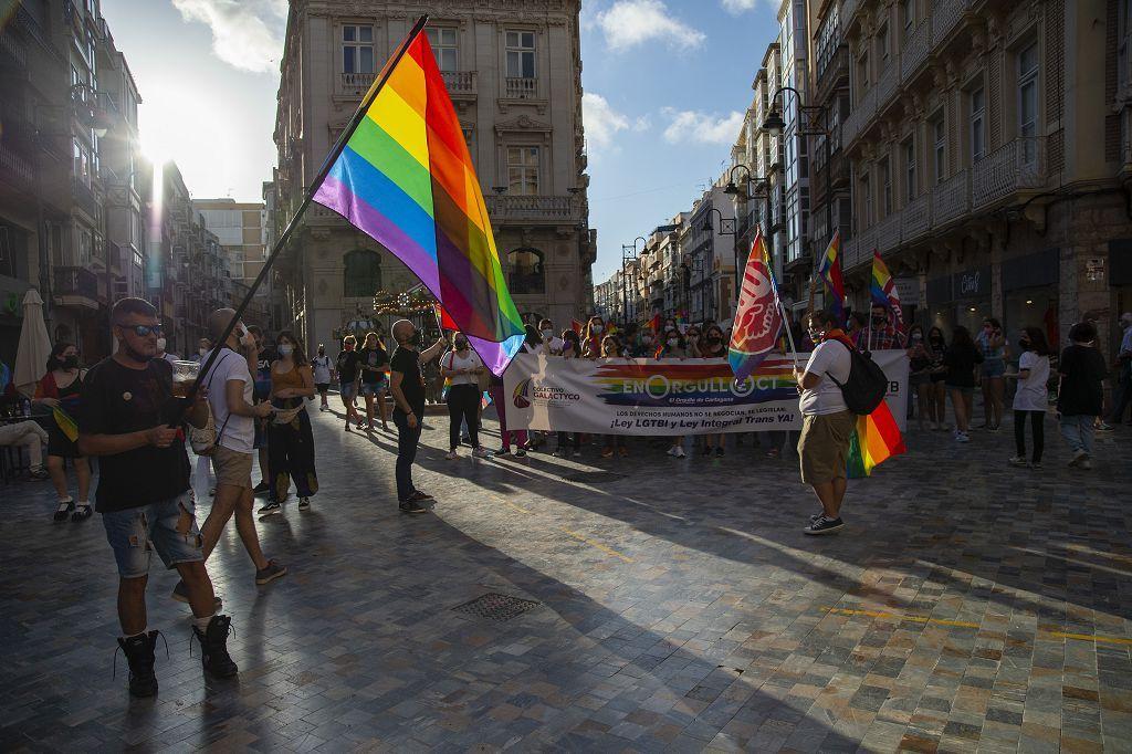 Marcha del colectivo LGTBI+ en Cartagena.