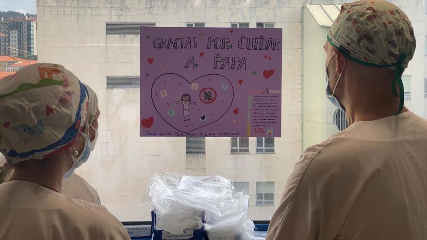 """""""Gracias por cuidar a papá"""" la carta de Celia a los sanitarios del hospital de Ourense"""