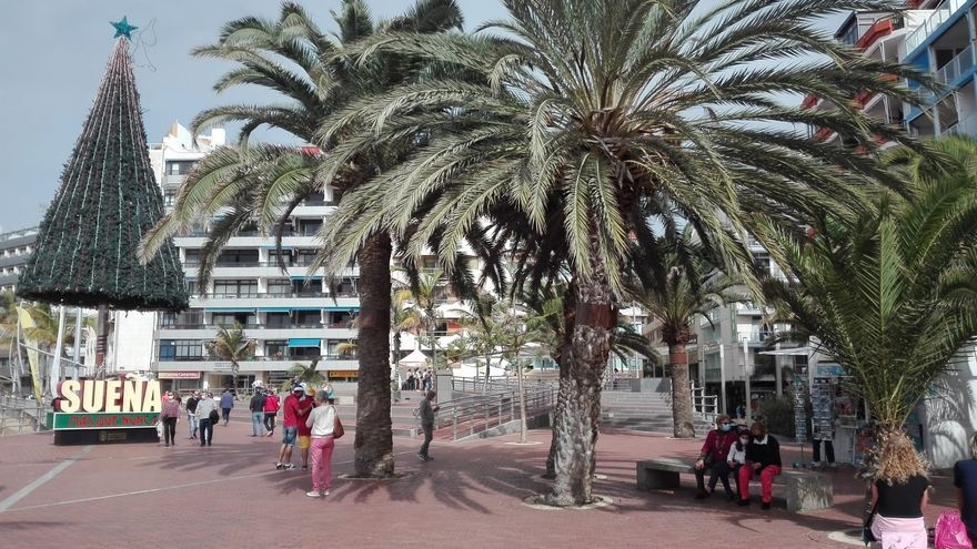 25 de diciembre en la playa de Las Canteras