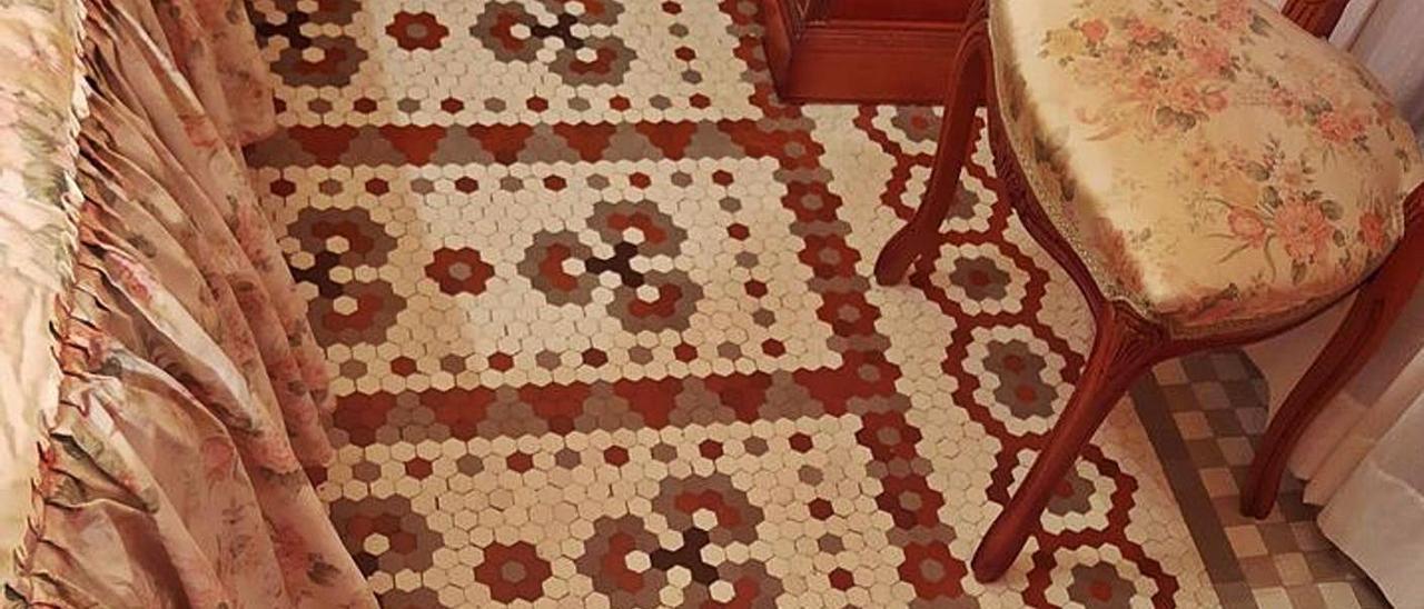 Mosaico Nolla que se encuentra dentrode una vivienda privada en Meliana.