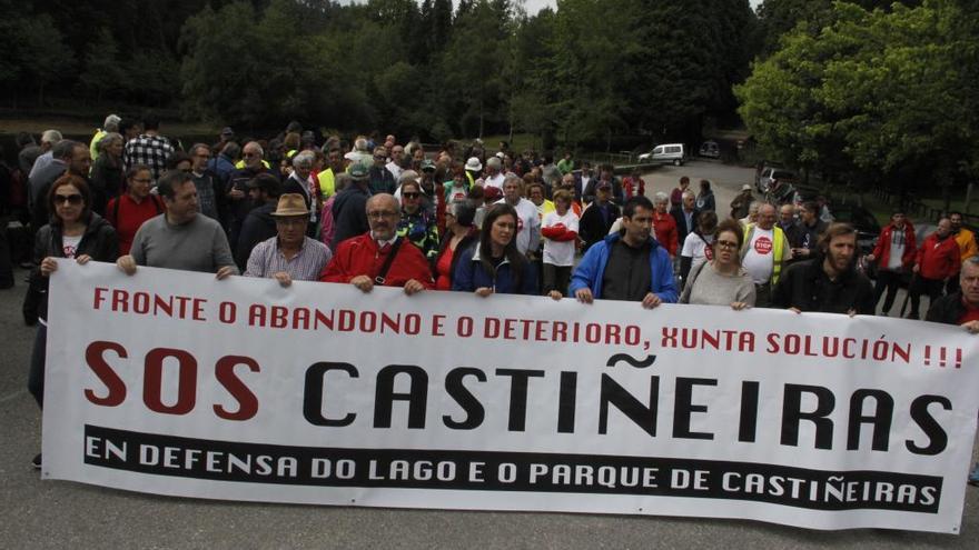 """Una """"andaina reivindicativa"""" por la recuperación del Lago Castiñeiras"""