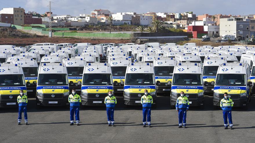 Presentación de ambulancias en La Pardilla
