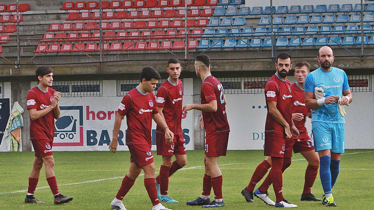 Los jugadores del Nogueira se desplazarán hasta A Guarda en el inicio de la competición. |  // IÑAKI OSORIO
