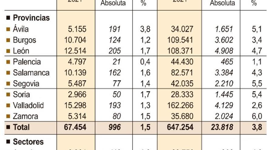 Zamora tiene 80 empresas nuevas y 2.024 trabajadores más que hace un año
