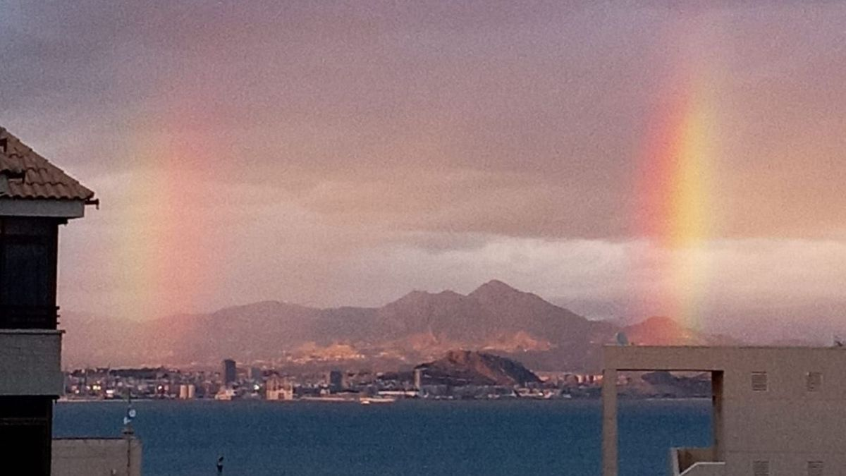 Double rainbow over Alicante, seen from Arenales del Sol.