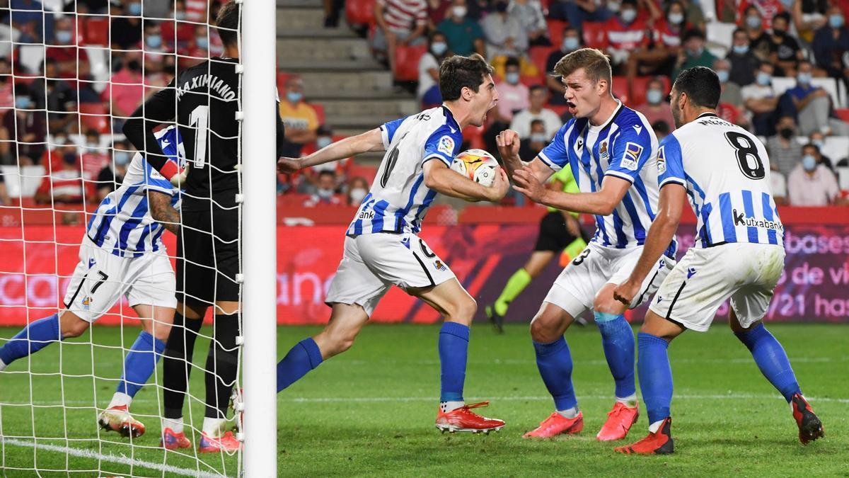 Partido entre Granada CF y Real Sociedad.