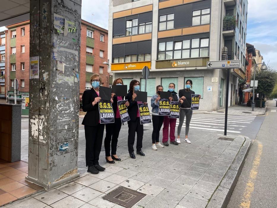 Protesta de los autónomos en Pola de Laviana
