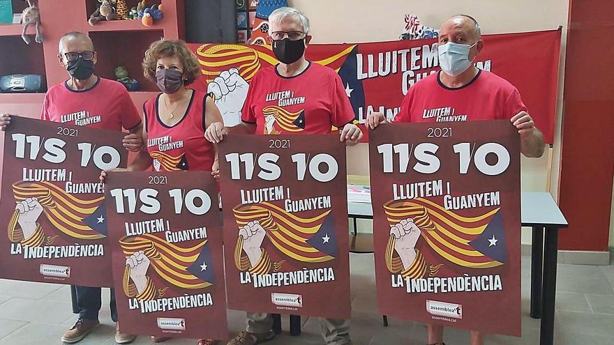 Baixa el ritme d'inscripcions a Berga per a la manifestació de l'11-S