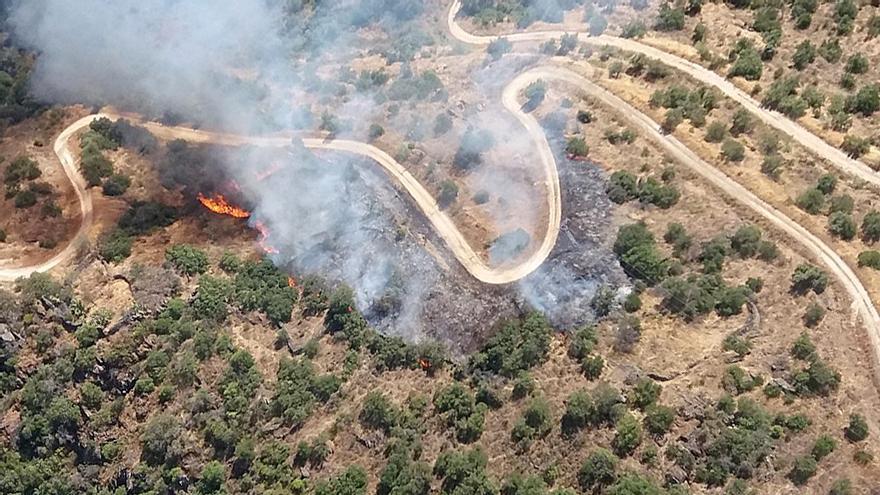 Extinguido el incendio de Saucelle (Salamanca) tras dos días activo