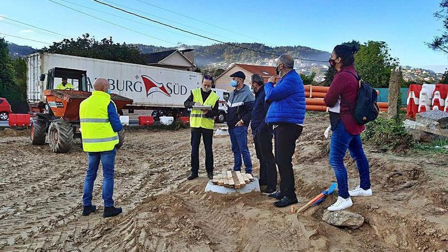 La obra del TCA de Bueu avanza a buen ritmo y acorta plazos