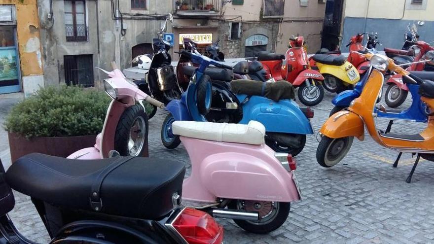 Els amants de les motos Vespa i Lambretta tenen una cita, dissabte, a Manresa