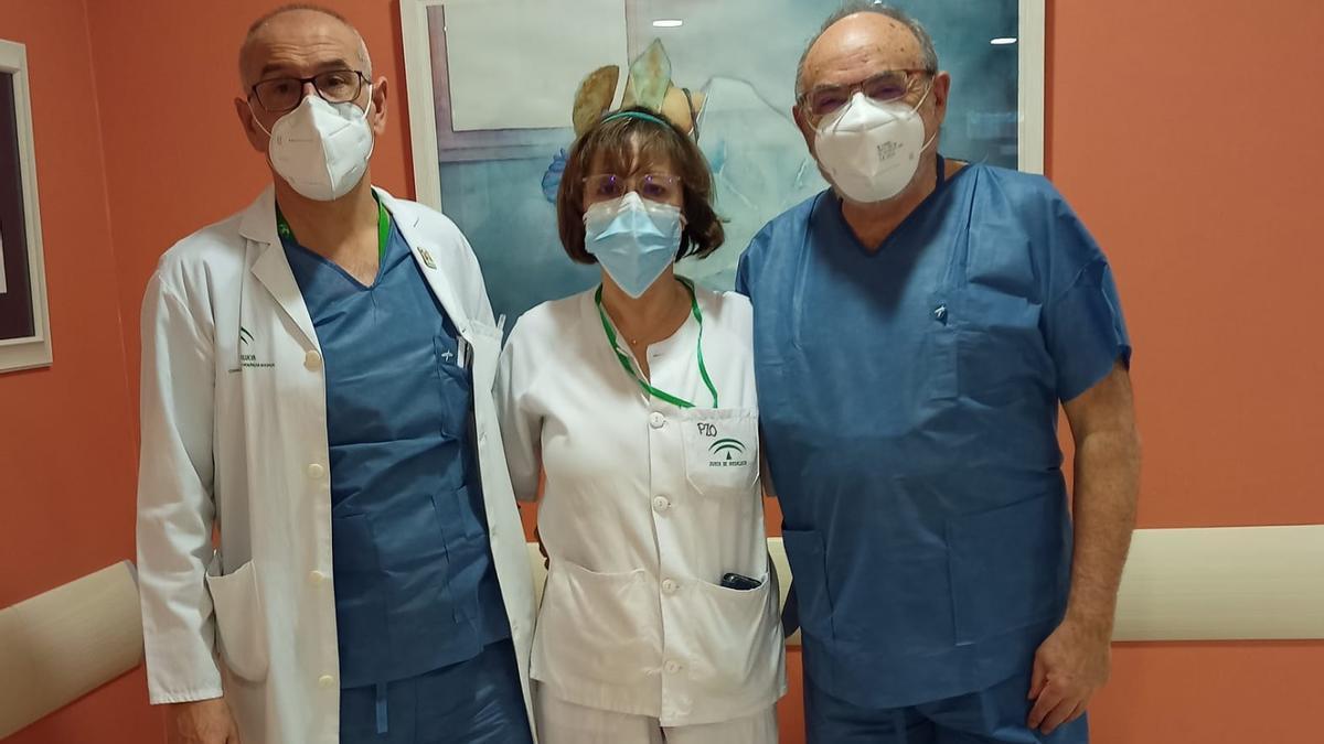 Los doctores Manuel Mesa Ramos, Carmen Maquieira Canosa, María Dolores Mateos Pérez y Francisco Mesa Ramos, del área sanitaria Norte.