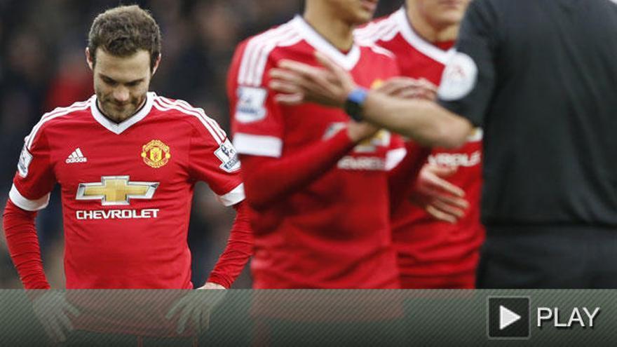 Juan Mata, expulsado por primera vez en su carrera