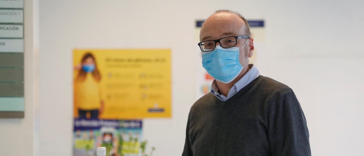 Miguel Ángel Prieto García, en la Consejería de Salud.