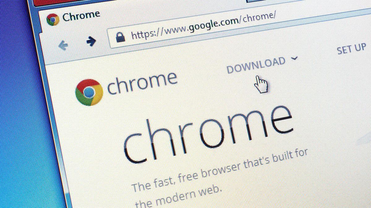 Una pantalla del navegador Chrome.