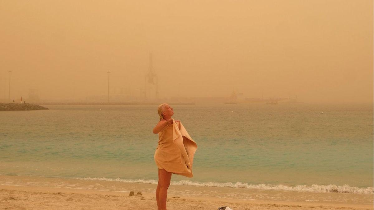 La Semana Santa comienza con calor y polvo en suspensión del Sáhara