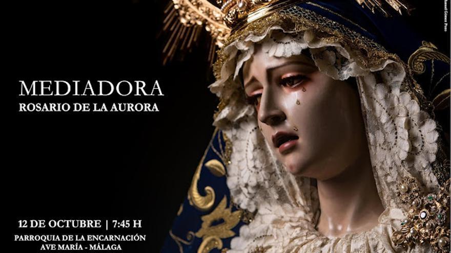 La Virgen Mediadora sale en Rosario de la Aurora el 12 de octubre