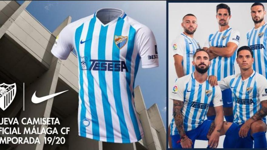 Las tres equipaciones del Málaga CF de 2019/2020