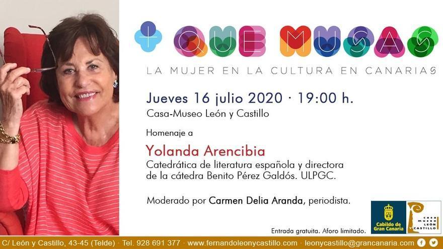Ciclo '+ que musas. La mujer en la cultura en Canarias'