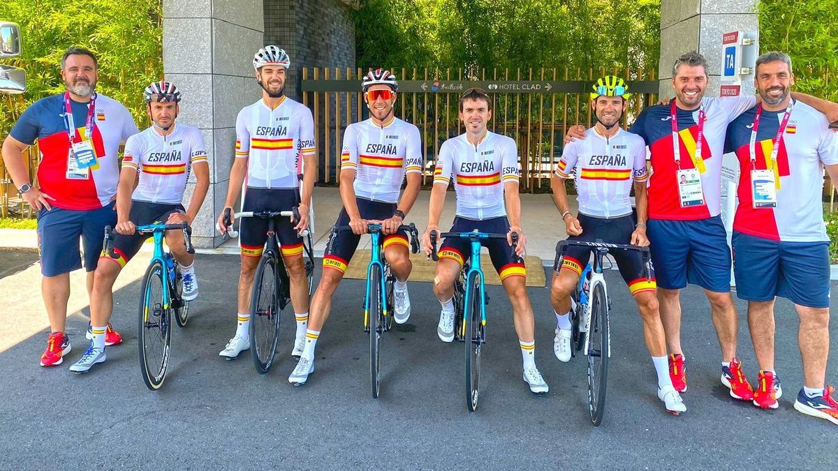 El equipo olímpico español masculino de ciclismo.