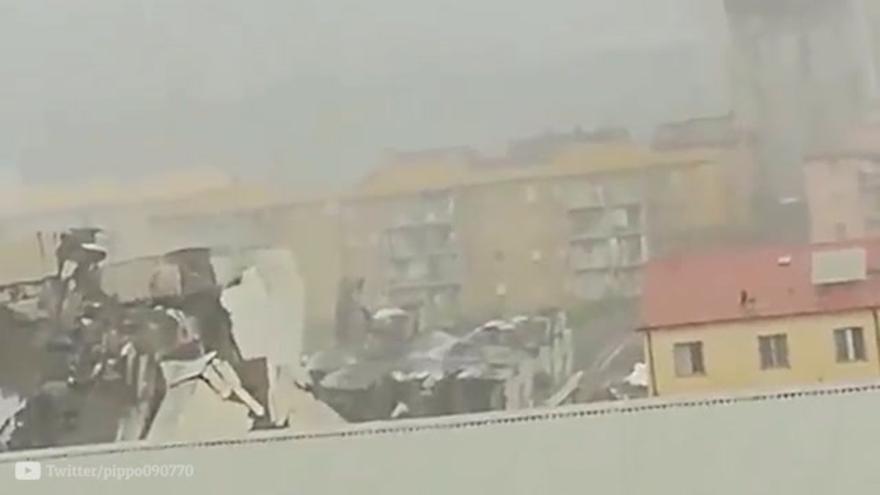 Las autoridades italianas achacan a un error humano la catástrofe del puente