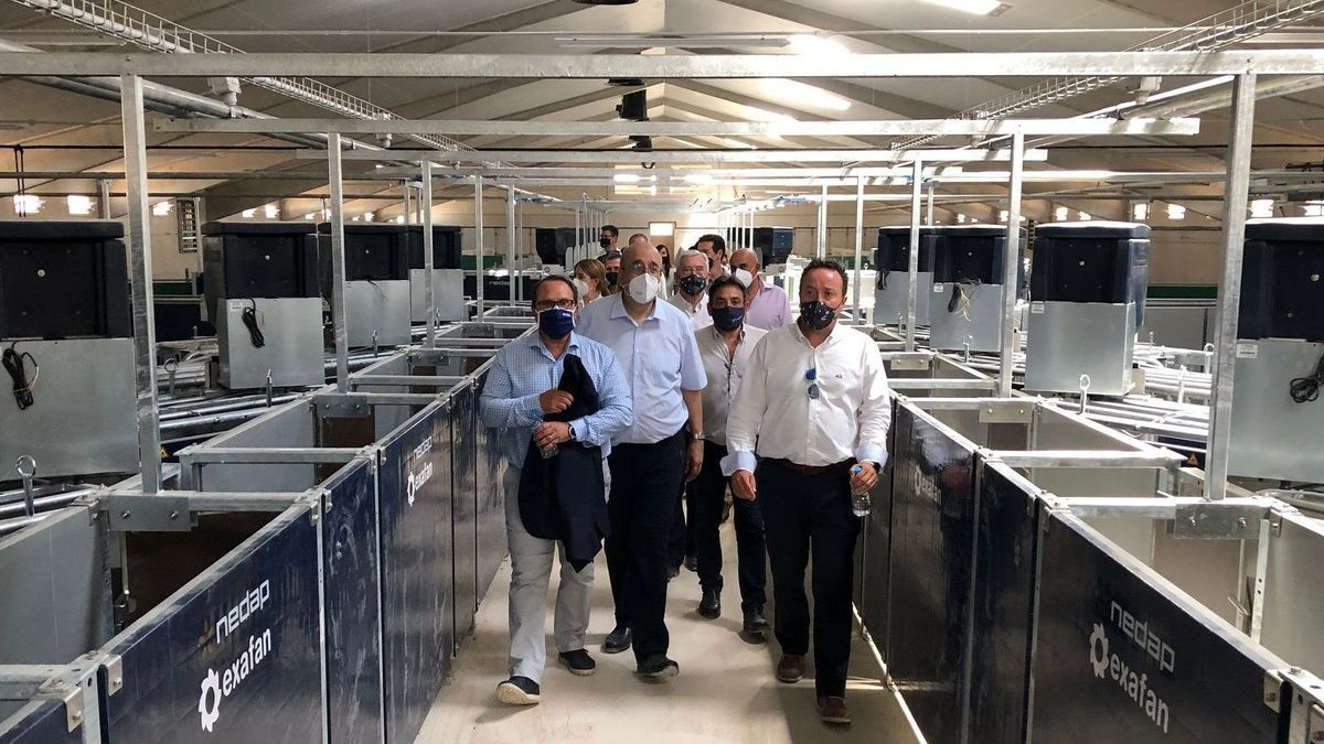 Visita institucional a la nueva granja del grupo Costa en Samper de Calanda