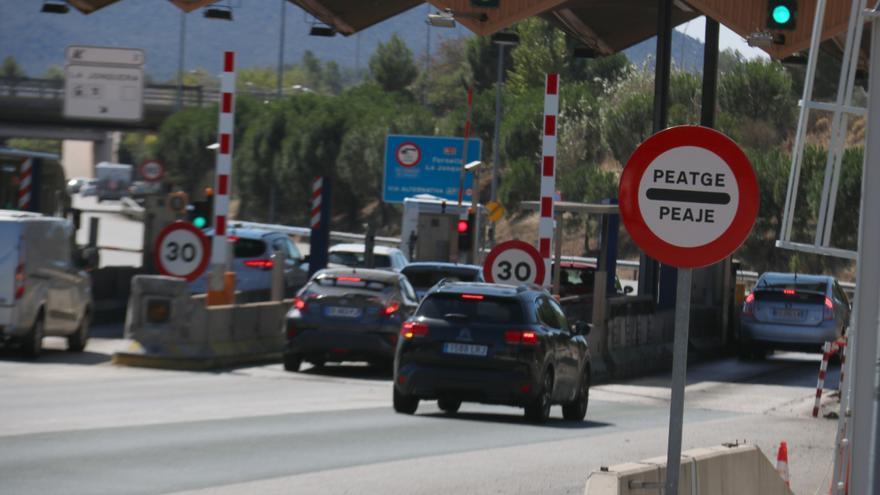 Última operació tornada de vacances amb peatge de pagament a la Jonquera