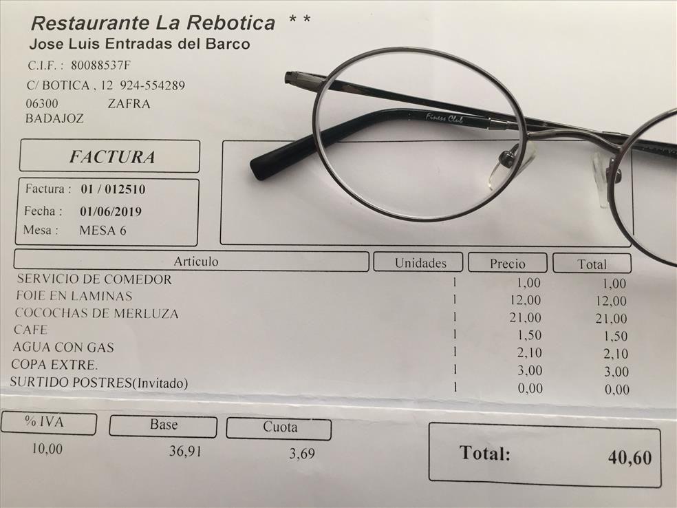 Restaurante La Rebotica de Zafra