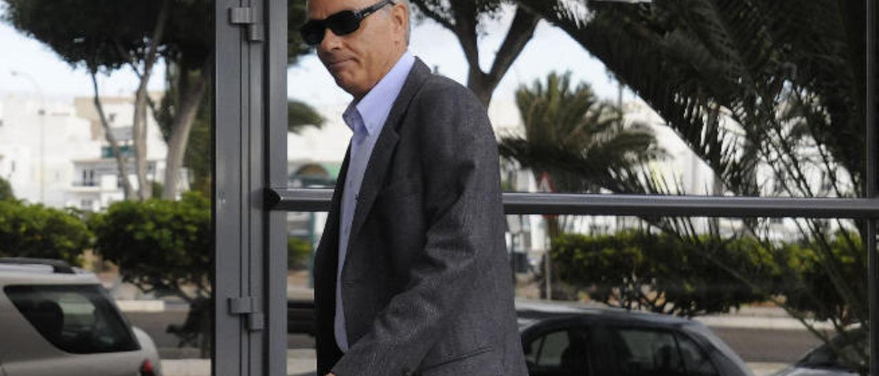 Vicente Bartolomé Fuentes, en una de sus comparecencias ante los Juzgados de Arrecife.
