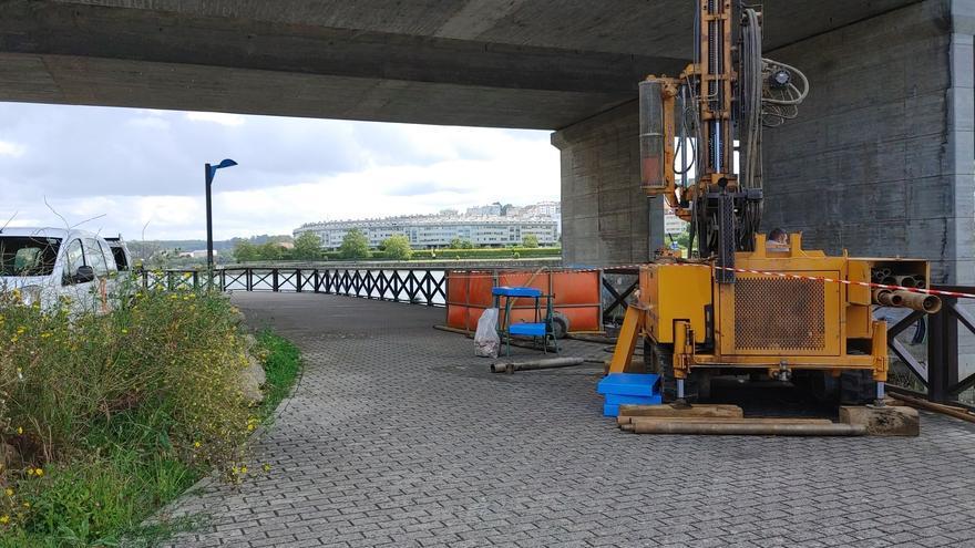 Nuevos sondeos para el proyecto de ampliación del puente de A Pasaxe