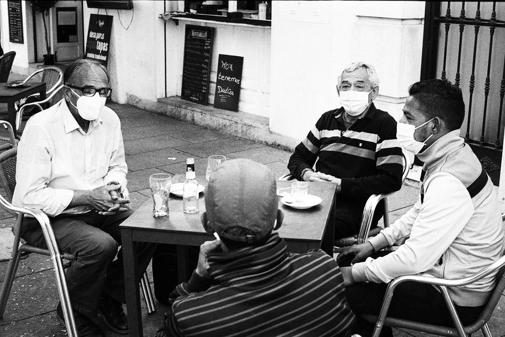 Francisco, Ramiro, Abdelhamid y Alijeddi