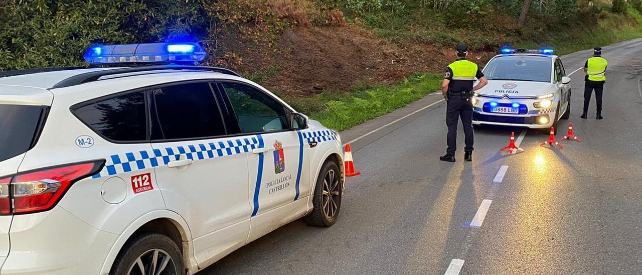 Agentes de la Policía Local de Avilés y Castrillón