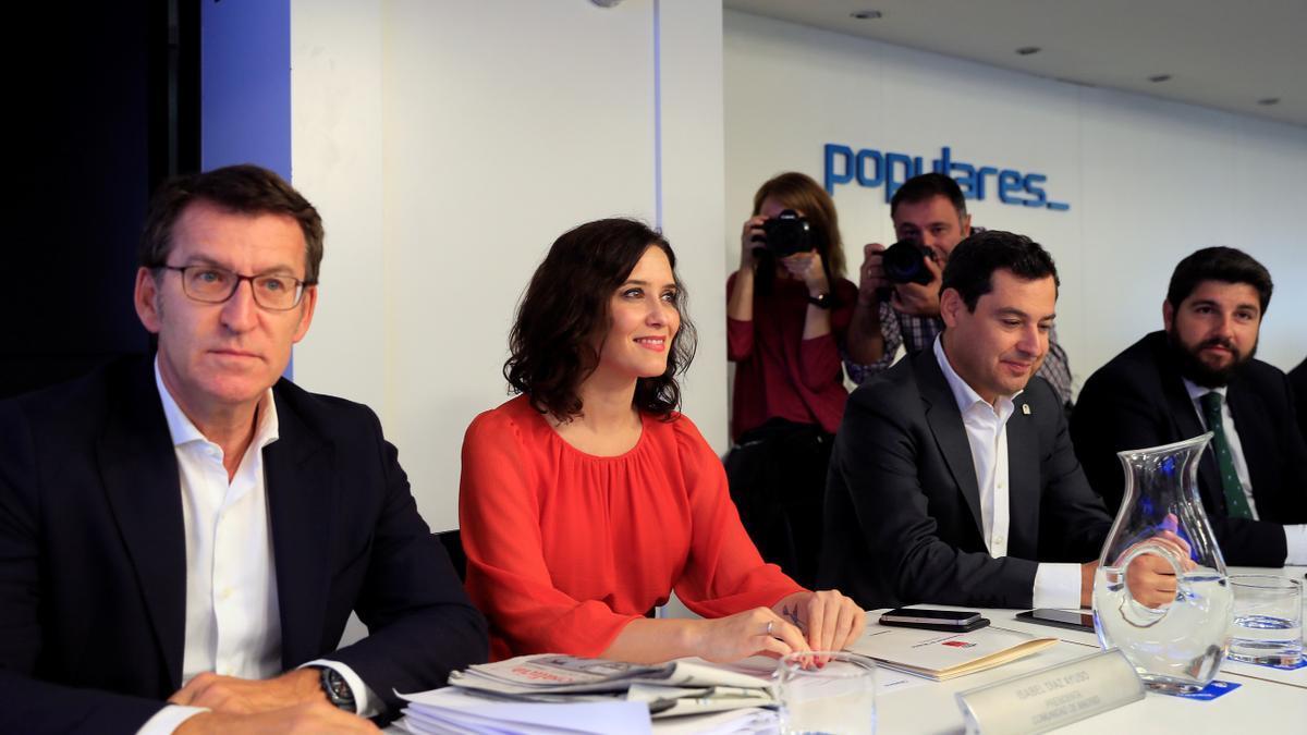 Feijóo, Ayuso y Moreno en una imagen de archivo.