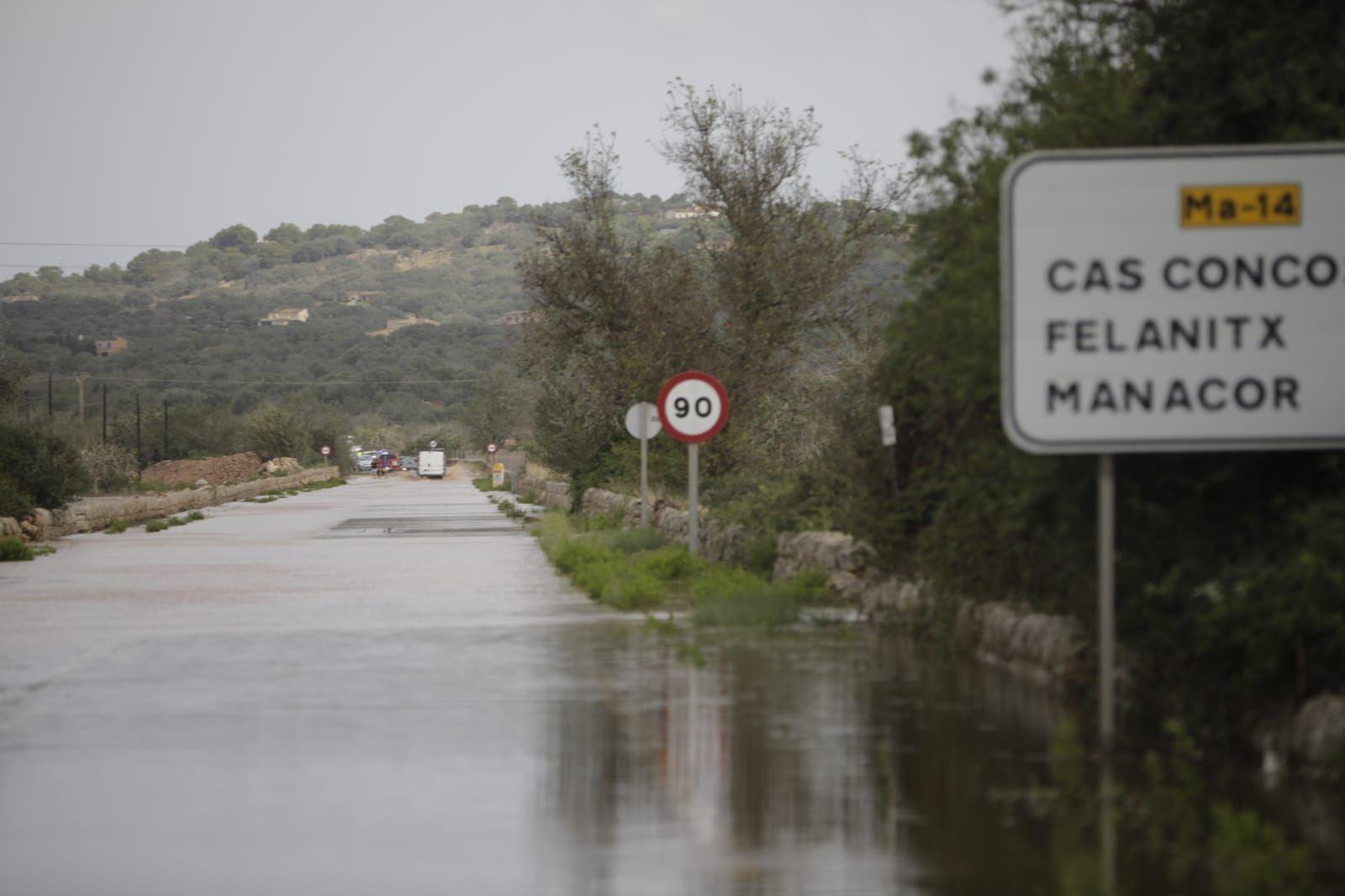 La gota fría provoca inundaciones en Santanyí