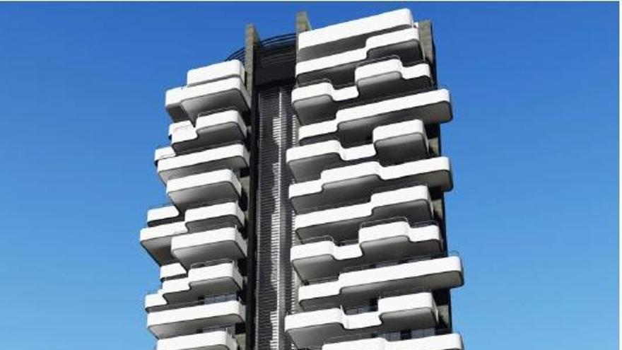 Calp ingresará un millón de euros por permitir las 20 alturas de la torre en primera línea de playa