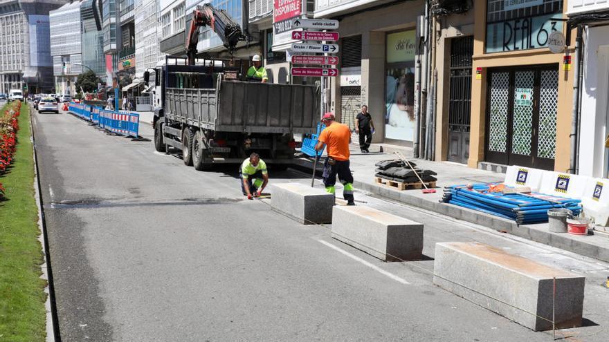 Arrancan las obras para peatonalización definitiva del carril de los Cantones