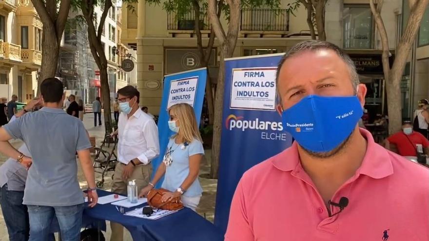 El PP pide al pleno de Elche que se oponga a los indultos de Sánchez