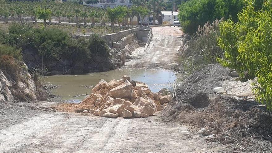 La carretera del Olmico dejará de inundarse tras las obras