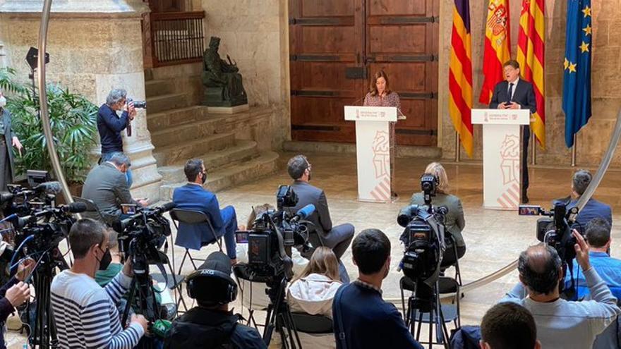 Armengol se reunirá con Ximo Puig en una cumbre el 5 y 6 de julio en Mallorca