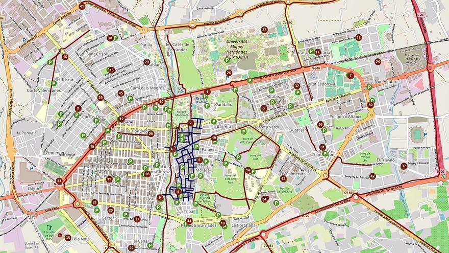 Elche sumará este año 50 nuevos puntos de aparcabicis y al menos otras cuatro estaciones de Bicielx