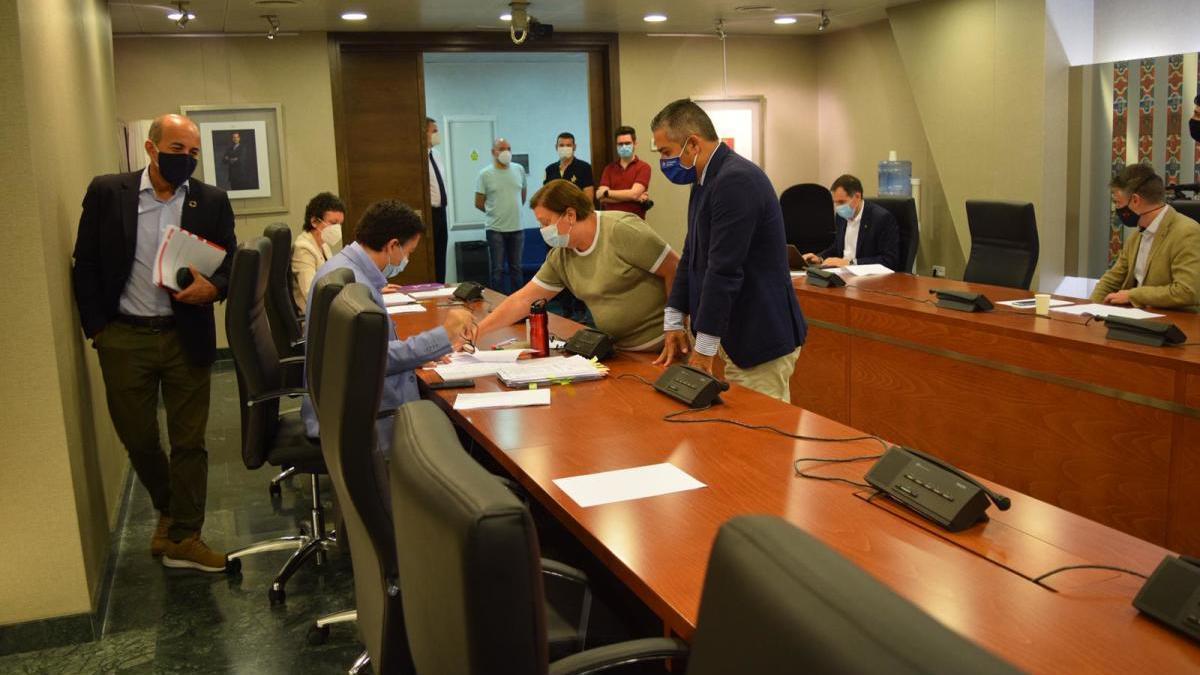Comisión de Política Territorial que estudiaba las enmiendas.