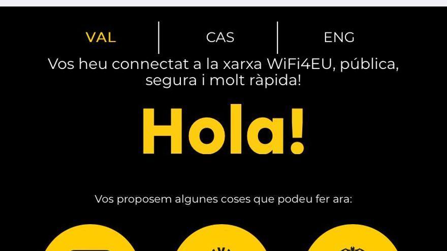 València estrena portal de acceso a la red de wifi europea gratuita