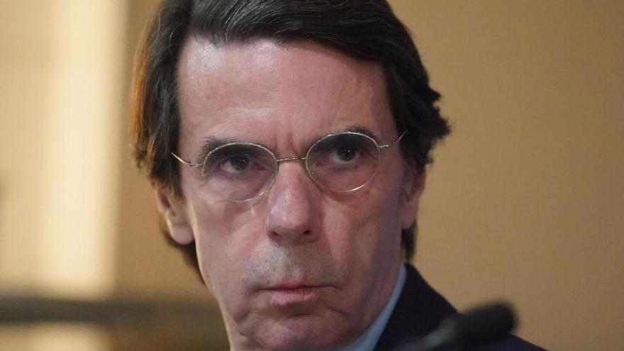 """Aznar alerta contra el """"no gobierno"""" de Sánchez"""