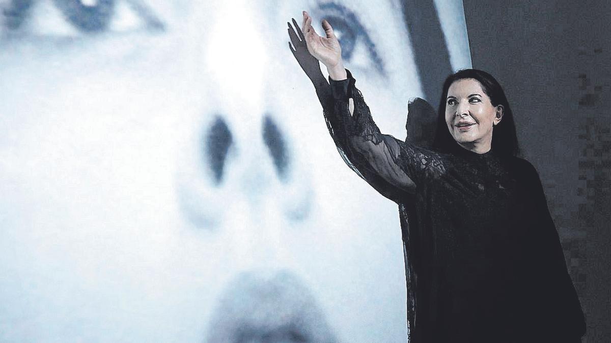 Marina Abramovic, en su última exposición en Palma, en la galería Horrach Moyà, en 2017.