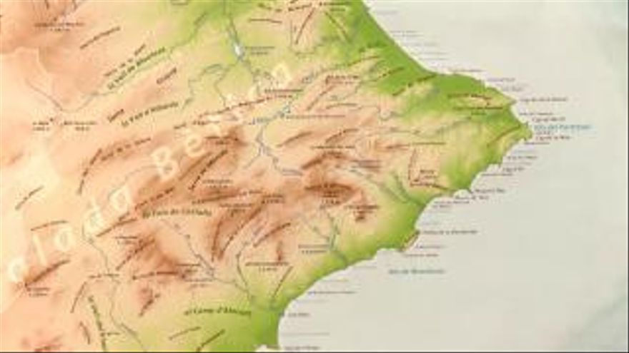 Mapa Fisico Comunitat Valenciana.La Generalitat Presenta El Nuevo Mapa Fisico De La Comunitat Valenciana Informacion