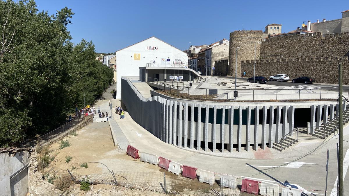 Zona del nuevo parking donde se ubica el Molino Tajabor.